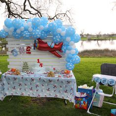 Cutiesforlilbeauties added a photo of their purchase Planes Birthday, Baby Boy 1st Birthday, 1st Birthday Parties, Birthday Ideas, Birthday Fun, Airplane Baby Shower, Airplane Party, Planes Party, Balloon Decorations Party