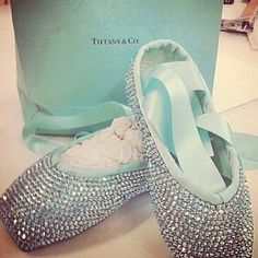 TIFFANY BALLET SHOES, they go hand in hand....diamonds and dance are a girls best friend.