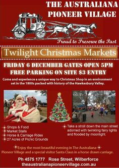 Only 1 more sleep before the most beautiful night in The Village...The Twilight Markets from 5pm...Thanks to all the local market stall holders, Village Shops, Rural Fire Service & most of all the fantastic volunteers who have worked really well to ensure this night will be a success ! ( Please re-pin this and help spread the word)