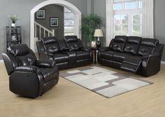 AC Pacific Furniture - Troy 3 Piece Power Reclining Sofa Set - Troy-Power-SLC