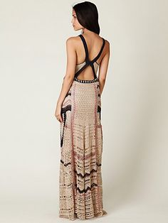 Free People Spun Eighty Stages Crochet Maxi Dress $298