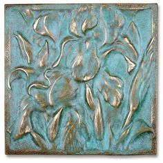 Acabado verdigrís Azulejos Art Nouveau, Art Nouveau Tiles, Mural Painting, Texture Painting, Pottery Handbuilding, Plaster Art, Decoupage Art, Paint Effects, Hand Painted Furniture