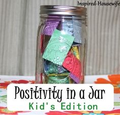 What a neat idea!  Teaching your kids about positivity - brilliant!!   #parenting #beingpositive #newyear