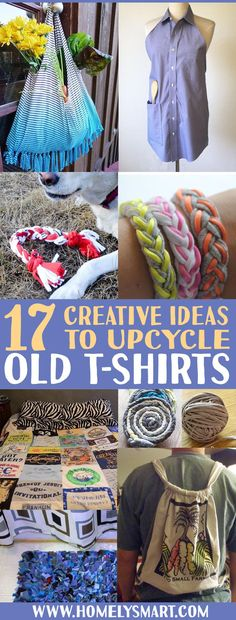 Turn old tees into aprons, rugs, tote bags and more! We got some creative ways on how you can breathe a new life to your old t-shirts! See more via homelysmart.com