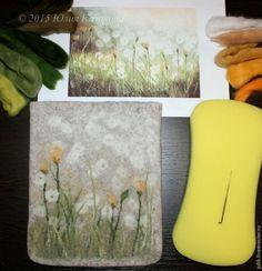 Мастер-класс по валянию чехла для планшета с рисунком в сочетании техник мокрого и сухого валяния, часть 2 - Ярмарка Мастеров - ручная работа, handmade