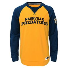 Youth Nashville Predators Faceoff Jersey Long Sleeve Shirt (Gold). Predators  HockeyRaglan ShirtsLong ... bdc5a8217