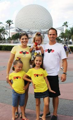 ADULT SIZE Mens DaD Mickey Mouse Ears Family Disney Vacation Personalized Embroidery Applique Shirt. $55.00, via Etsy.