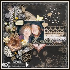 The Hens Den: Together Layout by Nicolle Kramer using Prima Marketing Engraver Collection