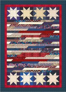Quilt Jubilee by Lisa Sutherland - Patriotic Quilts Strip Quilts, Panel Quilts, Blue Quilts, Small Quilts, Jellyroll Quilts, Scrappy Quilts, Mini Quilts, Flag Quilt, Patriotic Quilts