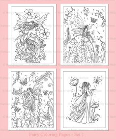 Items similar to PRINTABLE - Flower Fairies Coloring Pages Set 1 - 4 Flower Fairy Illustrations - Adult Coloring Pages - Molly Harrison Fairy, Faery on Etsy Blank Coloring Pages, Fairy Coloring Pages, Coloring Sheets, Coloring Books, Mandala, Flower Fairies, Fairy Art, Coloring For Kids, Lovers Art