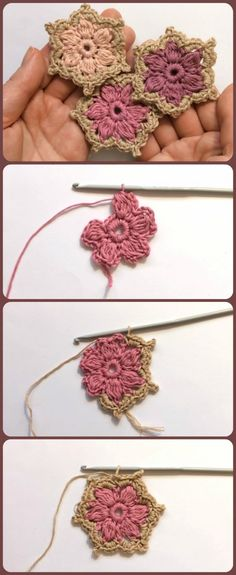 Most up-to-date Free Crochet flowers tutorial Strategies Easy Crochet Flower Tutorial Crochet Flower Tutorial, Crochet Flower Patterns, Crochet Motif, Crochet Flowers, Crochet Stitches, Knitting Patterns, Knit Crochet, Diy Flowers, Easy Crochet Flower