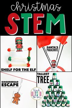 Four LOW PREP STEM Challenges for December | Christmas STEM Activities for Elementary Students