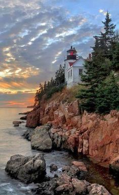 Bass Harbor Head Lighthouse in Acadia National Park, Maine • photo: Rob Kroenert… by mel01