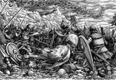 """""""The Battle of Five Armies, depicted in The Hobbit, was fought between the Goblins and the Wargs of Moria and the Misty Mountains against the Men of the. Battle of Five Armies: Men of Esgaroth Crusader Knight, Different Races, Tolkien Books, Army Men, Lone Wolf, Old Art, Middle Earth, Lotr, The Hobbit"""