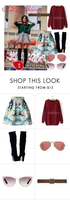 """""""Untitled #105"""" by sara-bitch1 ❤ liked on Polyvore featuring Mary Katrantzou, Tela Beauty Organics, Ray-Ban, Tom Ford and Yves Saint Laurent"""