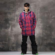 US $186.59 Brand New Pink Grid Women Men Women Snowboard Ski Jacket Pants Ski Suit Waterproof Warm Outdoor Camping Hiking Ski Suit. Aliexpress product