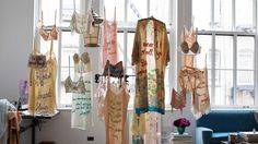 Zoe Buckman embroiders hip-hop lyrics onto lingerie for beautiful and thought-provoking works of art.