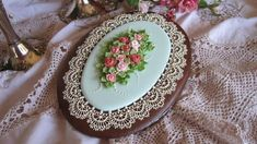 Royal icing cookie lace and roses  - Cake by Teri Pringle Wood