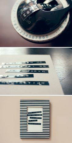 "DYMO Label Maker ""Art""--hey i have one of these! Cute Crafts, Crafts To Do, Diy Crafts, Diy Wall Art, Diy Art, Dymo Label, Label Machine, Do It Yourself Inspiration, School Labels"