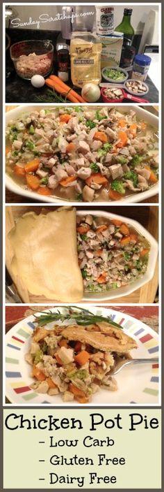 Gluten free, dairy free, low carb, chicken pot pie -- Comfort food!