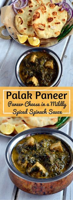Palak Paneer - Paneer in a mildly spiced Spinach sauce - vegetarian, gluten free…