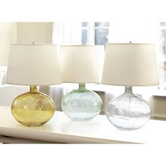 Malia Seeded Glass Table Lamp (on sale for $76.49) - substantial lamp with a light look