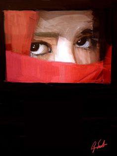 """Sad Eyes,"" digital print by American artist, Ry Smith Sad Eyes, American Artists, Digital Prints, Fine Art Prints, World, Painting, Fingerprints, Art Prints, Painting Art"
