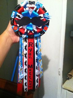 Mustache baby shower corsage on Etsy, $20.00