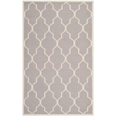 Safavieh Dhurries Dark Grey/Ivory 3 ft. x 5 ft. Area Rug-DHU632G-3 at The Home Depot