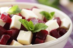 Beetroot salad  PV days, for 2  Ingredients:  2 beetroots  2 tsp of olive oil  1 squeeze of orange flavouring  some chopped parsley  2 squares of light laughing cow cheese    Peel raw beetroots and grate them. dress with orange flavouring and olive oil. Add some laughing cow cheese and chopped parsley.