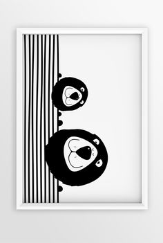 BLACK AND WHITE ANIMAL NURSERY ART | MONOCHROME PRINT | KIDS POSTER | STRIPES | LIONS