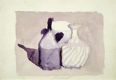 Giorgio Morandi Still Life Watercolor Picasso Drawing, Painting & Drawing, Italian Painters, Italian Artist, Art And Illustration, Great Works Of Art, Italy Art, Painting Still Life, True Art