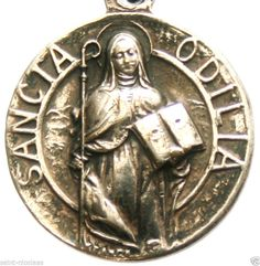 Saint Odilia Beautiful Vintage Medal Pendant | eBay