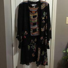 Floral Dress & Top Set Dress, sleeveless top and cardigan Dorthy Scroelen Platinum Dresses Long Sleeve