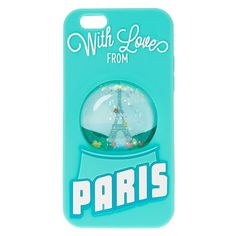 Paris Snow Globe Liquid Fill Phone Case