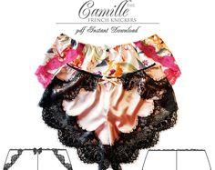 Patrón de costura de ropa interior - bragas francés Camille, bragas - pdf instantánea descargar E2006 de EVIE la LUVE