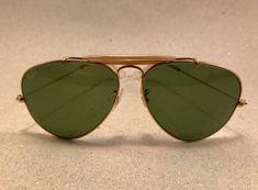 Vintage Ray Ban Large Metal RB3 green Arista 58 [] 14 B&L Bausch Lomb USA