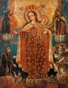 Pintura Colonial, Colonial Art, Spanish Colonial, Catholic, Marie, Lady, Painting, Painting Art, Paintings