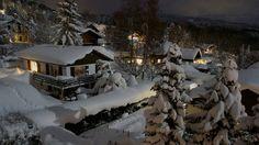 Winter Landscape in Arzier, Switzerland.