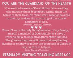 cute february 2012 visiting teaching handout