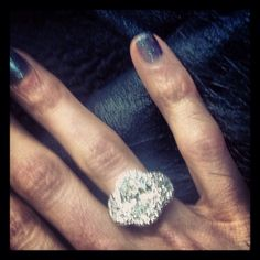 Handmade Oval Diamond Ring