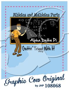 Athletes and Mathletes Party nerd black board mixer #grafcow