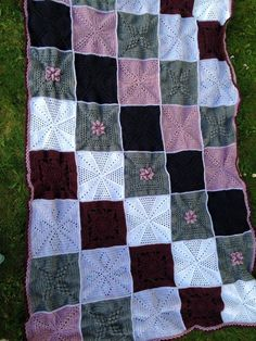 """Made by Lucy C. - ♡♡♡ It!!! - A Blanket - From The Scheepjes CAL 2014 - In Memory of Marinke (Wink) Slump R.I.P. (Crochet Squares / Afghan / Blanket) Pattern is still Free & Available on her Blog: """"A Creative Being"""""""
