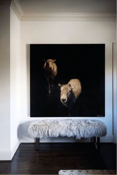 interior by paul raeside, painting of sheep by Dawne Raulet Interior Architecture, Interior And Exterior, Interior Design, Design Entrée, House Design, Interior Inspiration, Design Inspiration, Decoration, Sweet Home