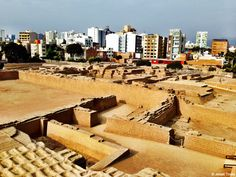 The incredible pyramid of Huaca Pucllana sits in downtown Lima