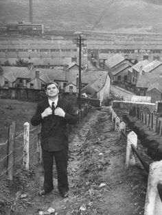 Politician Aneurin Bevan Posing in Front of in His Home Town During His CampaignBy Ian Smith Premium Photographic Print: British Politician Aneurin Bevan Posing in Front of in His Home Town During His Campaign by Ian Smith : Aneurin Bevan, Old Photos, Vintage Photos, Ian Smith, National Health Service, Campaign Posters, Cymru, British History, Modern History