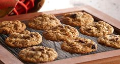 Harvest Oatmeal Cookies : These are not your everyday oatmeal cookies. These cinnamon and maple flavored oatmeal cookies are chockfull of good things – pecans, cranberries and dried apricots.