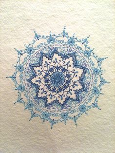 Doodling in shades of Blues by Humna Mustafa, via Behance @Amy Lyons Lyons Lyons Faldet I posted this for you :D