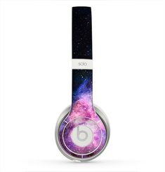 The Vibrant Purple and Blue Nebula Skin for the Beats by Dre Solo 2 Headphones from DesignSkinz. Saved to Skinz for Beats by Dre Headphones. Cute Headphones, Wireless Headphones, Cheap Beats, Beats Pill, Beats By Dre, Gift Store, Music Stuff, Cool Gadgets, Cool Stuff