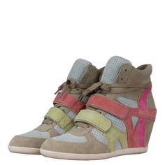 Ash 95274 Bixi Womens Wedge Hi Top Trainers Chamois/Marble/Banana/Peach Sports Footwear, Summer Accessories, Trainers, Marble, Banana, Wedges, Sneakers, Womens Fashion, Top